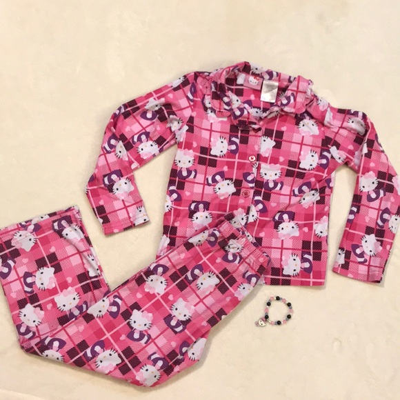 7645890e0 Hello Kitty Other - Hello Kitty pajamas size 7/8. Bonus bracelet